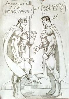 Sketch by Drake, Arte Drake, Man Of Steel, Sketching, Superman, Comic Art, Marvel, Comics, Drawings, Face