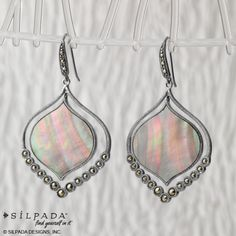 Silhouettes of iridescent | #Silpada Contour Earrings #WomensFashion #jewelry
