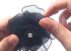 How to Make a Nylon Boutonnieres  Nylon Flower Tutorial