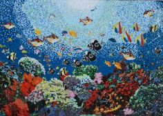 Variety-of-Colorful-Fish-in-the-Coral-Reef-Glass-Mosaic-Hand-Made image