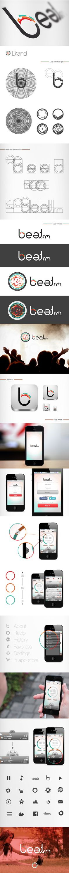 Beat.fm by Fábio Pereira, via Behance Beat.fm can be baught at: https://itunes.apple.com/br/app/beat.fm-your-exercise-radio/id622580051?l=en=8