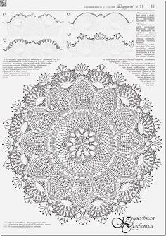 ↦ Crochet string rug - Learn how to make amazing model. - Her Crochet Crochet Doily Diagram, Crochet Mandala Pattern, Crochet Squares, Filet Crochet, Irish Crochet, Crochet Patterns, Doily Rug, Lace Doilies, Crochet Doilies