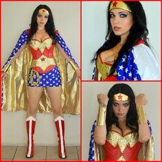 HALLOWEEN SALE WONDERWOMAN Costume Kim by VivaWonderWoman on Etsy, $230.00