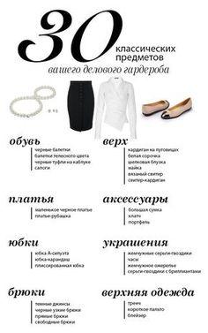 Инфографика: основы женского делового гардероба - Я Покупаю
