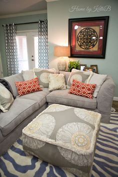 Sectional Sofa | Flores Den After | Home by Kelle B