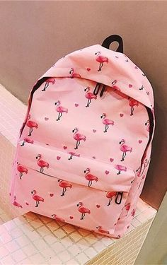 Pink Flamingo Polka Dot Fashion Backpack - Just Pink About It Flamingo Decor, Pink Flamingos, Cool Gifts, Unique Gifts, Dots Fashion, School Bags, School Supplies, Fashion Backpack, Polka Dots
