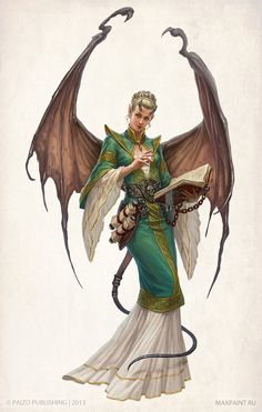 Succubus Philosopher from the Wrath of the Righteous Pathfinder Adventure Path. Art by Ekaterina Burbak.