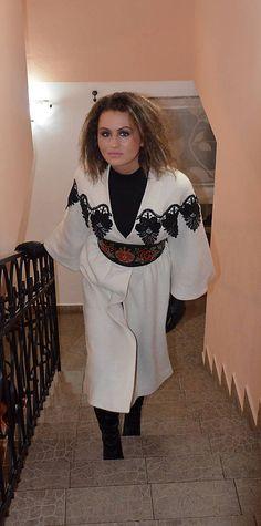 Angeli / Jarný/jesenný buklé kabát Kimono Top, How To Make, Fashion Design, Tops, Women, Woman