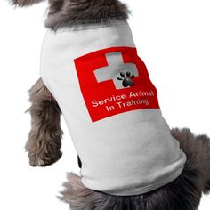Service Animal In Training Dog Tshirt $24.95 This Medical Cross with Dog Paw on a red background stands out and lets others know you have a working animal. Service Animal in Training.
