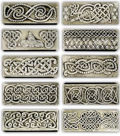 CELTIC JEWELLERY LITTLE BOXES 1    Some celtic little jewelry boxes. 20 x 8 x 4 cm.    Embossed (repousse) jewelry boxes.    There are many measures and a great variety of motifs and designs based in historical ornaments from all ages and my own designs.    Like in all my works you can choose all the parts of the embossing design, including main motif, names, dedications, date… and all you want to include.