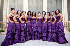 Purple Bridesmaids.