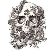 skull snake tattoo - Google keresés