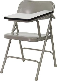 Premium Steel Folding Chair with Left Handed Tablet Arm HF-309AST-LFT-GG by Flash Furniture