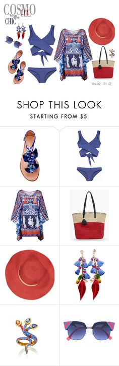 """Red & Blue"" by borislava-zo3bi ❤ liked on Polyvore featuring Aquazzura, Mary Katrantzou, Talbots, Bleu Comme Gris and Holly Dyment"