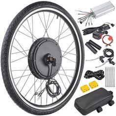 Front/Rear E-Bike Hub motor conversion kit. Dual Mode Controller: Motor works under Hall effect and non-Hall effect.Quiet and reliable Brushless Gearless Hub Motor. Electric Bicycle Kit, Electric Mountain Bike, Electric Cycles, Electric Vehicle, Electric Cars, Motorised Bike, Bicycle Wheel, Bicycle Engine Kit, E Bike Kit