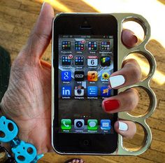Brass Knuckle iPhone5 Case via lovethecool12. Click on the image to see more!