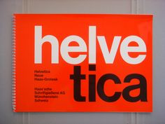 Helvetica / Neue Haas Grotesk specimen book published circa 1968. Designed by…