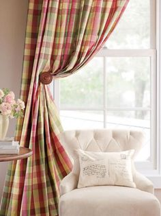 Elegant Plaid Curtains Curtain