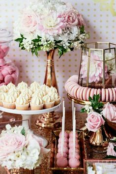 Jan 2017 - This Copper, Pink, and Gold Princess Party at Kara's Party Ideas is so versatile it can be used for a baby shower, birthday, or birthday! Pink Parties, Birthday Parties, Cake Birthday, Tea Parties, 25th Birthday, Birthday Brunch, Pink Birthday, Pink Party Themes, 18th Birthday Party Ideas For Girls