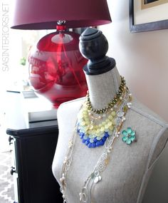 Dress form jewelry holder eclecticallyvintage.com