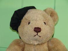 BIG Vintage Black French Beret Plush Gund Bialosky Bear in Toys & Hobbies, Stuffed Animals, Gund Beret, Vintage Black, Picnic, Plush, Teddy Bear, French, Toys, Big, Crafts