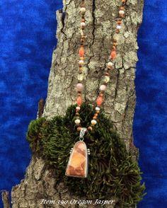 Costom Designed Oregon Jasper Necklace $117.00
