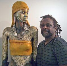 "Sculptor Woodrow Nash with ""Almitra II"""