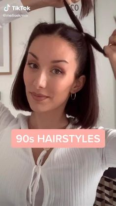 Vintage Hairstyles For Long Hair, 90s Hairstyles, Headband Hairstyles, Summer Hairstyles, Vintage Short Hair, Updo Hairstyle, Wedding Hairstyles, Headbands For Short Hair, Short Curly Hair