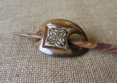 READY TO SHIP  Celtic Hair Pin  Barrette  Hair by DragonflyArts, $21.00
