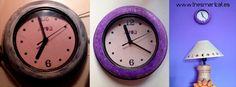 #DIY Reloj purpurina  via @lispeth_