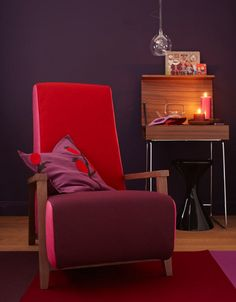 Salon prune & rouge Shoener-wohnen via Nat et nature