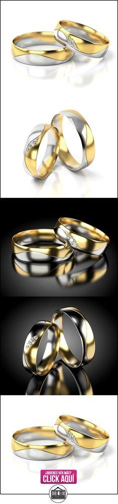 Anillos De Boda Oro Blanco / Oro amarillo 750_PD155_S-724  ✿ Joyas para hombres especiales - lujo ✿ ▬► Ver oferta: https://comprar.io/goto/B01DPXO42S