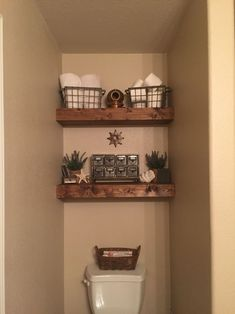 32 DIY Bathroom Organisation Shelves Try For You - All About Decoration Bathroom Storage Over Toilet, Toilet Shelves, Bathroom Shelf Decor, Diy Bathroom, Bathroom Organisation, Remodel Bathroom, Bathroom Renovations, Bathroom Ideas, Shiplap Bathroom