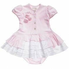Emile et Rose Baby Girls Pink Cotton Dress and Knickers Set at Childrensalon.com