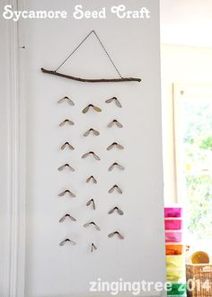Helicopter Seed Craft Wall Decoration