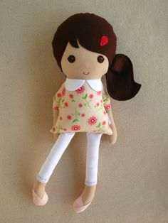 Reserved+for+Joanne++Fabric+Doll+Rag+Doll+Brown+par+rovingovine,+$35.00