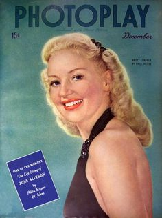 Betty Grable. Photoplay Magazine, December  1944