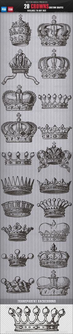 20 Crowns - Custom Shapes  THOUGHT THIS WAS COOL