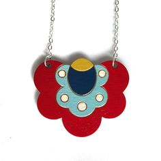 Colourful Cactus Flowers Jewellery Flower Necklace, Flower Brooch, Laser Cut Jewelry, Flower Shorts, Handmade Items, Handmade Gifts, Cactus, Etsy Shop, Unique Jewelry
