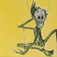 Alien figure painting by Kurt Cobain