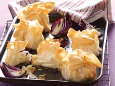 Filo Wrapped Brie/Camembert with Red Onion Chutney