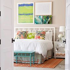 Keep a small bedroom organized with these smart tricks for adding storage to even the tightest of sleeping quarters.
