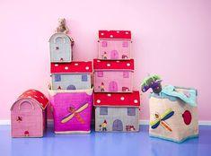 Cajas decorativas para las habitaciones infantiles de Rice. http://www.mamidecora.com/complementos-cajas-rice.html