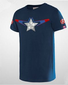 Captain America nvay t shirt for men Avengers: Age of Ultron-