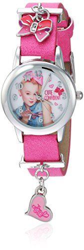Jojo Siwa Girl's Quartz Metal Casual Watch, Color:Pink (Model: joj5002) Jojo Siwa analog charm watch Analog charm watch Analog-quartz Movement Case Diameter: 26mm Not water resistant