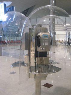 futuristic phone booth