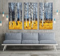 Large Art Poplar Tree Forest Canvas Print , Poplar Tree Forest in Autumn, Extra Large 3 Panel Art Canvas Print, Framed Wall Art Canvas Art Prints, Canvas Wall Art, Framed Wall Art, Framed Prints, Poplar Tree, Tree Forest, Panel Art, Pigment Ink, Large Art