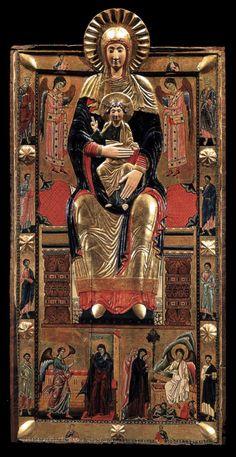 COPPO DI MARCOVALDO Virgin in Majesty - Wood Santa Maria Maggiore, Florence