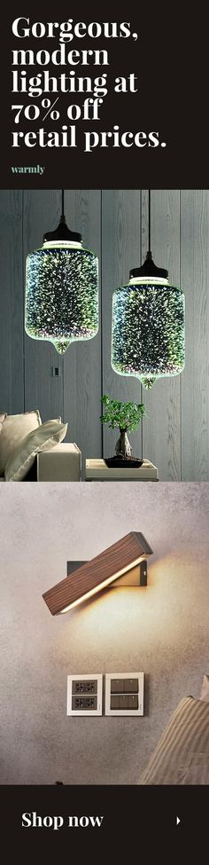 Modern Lighting Best-selling modern lights at off retail (or more) -. Farmhouse Lighting, Rustic Lighting, Vintage Lighting, Home Lighting, Lighting Ideas, Luxury Lighting, Modern Bedroom Lighting, Modern Lighting, Lighting Design