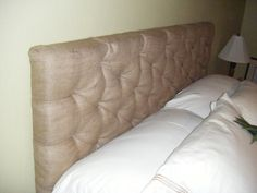 link to a tutorial on how to make a tufted headboard.